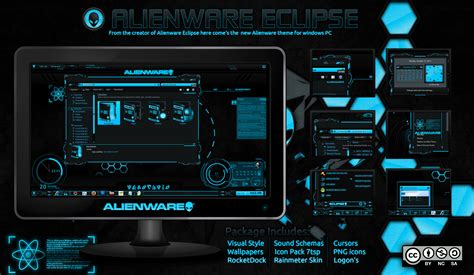 eclipse theme green alienware eclipse windows 7 mr blade designs