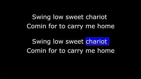 youtube swing low sweet chariot swing low sweet chariot corrected timecodes youtube