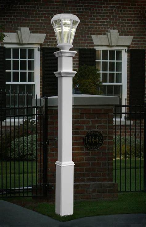 mailbox post with light sturbridge l post accessories mailboxes address