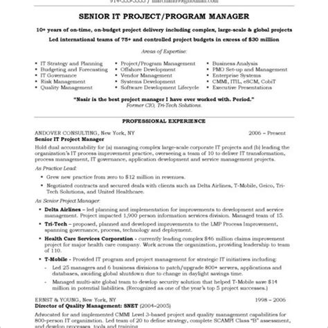 Project Manager Resume Sles by Tj Maxx Resume Resume Ideas