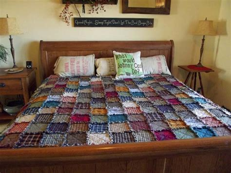 King Size Patchwork Quilts - king patchwork rag quilt made to order rustic reversible