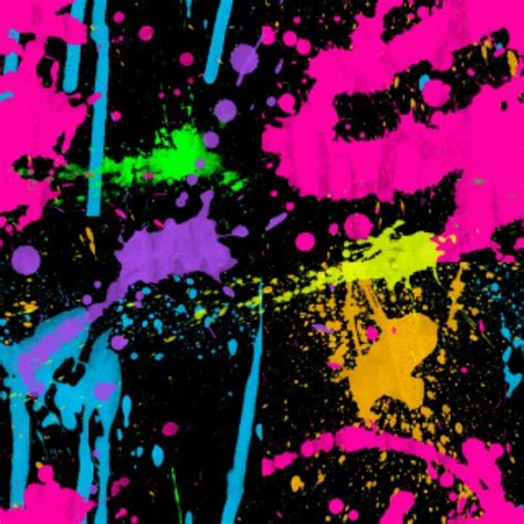 Paint Splatter Decorations by Neon Colors And Paint Splatter Neon Decorations