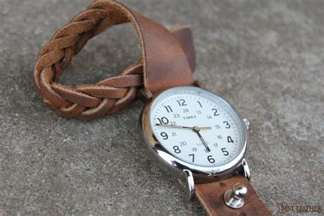 north star mystery braid leather button stud  band  bestleatherorg