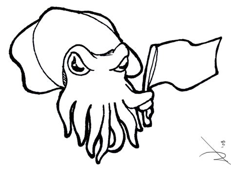 cuttlefish drawing clipart best