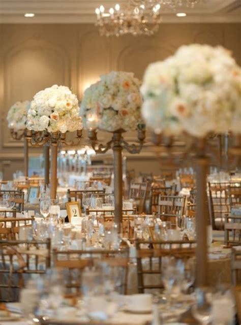 Gold Wedding Reception Ideas Tall Wedding Centerpiece Gold Centerpiece Ideas