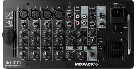 Mixer Alto Sound System alto professional mixpack 10 pa system introduced