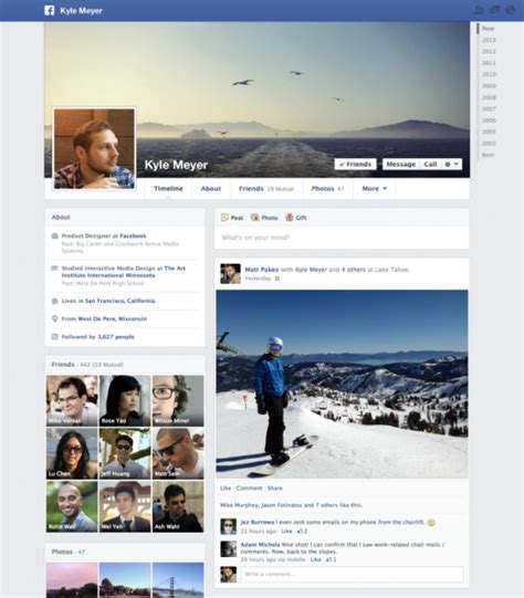 facebook themes change layouts now facebook is changing timeline profile page layout as
