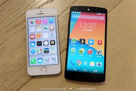 best nexus 5 nexus 5 vs iphone 5s confronto which is the best