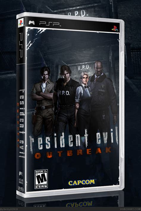 theme psp resident evil resident evil outbreak psp box art cover by sentry