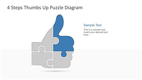 4 puzzle template 4 step thumbs up puzzle powerpoint template slidemodel