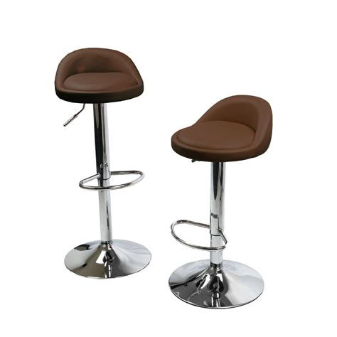 Metal Adjustable Height Bar Stools by 1 Pair Leather Metal Bar Stools Swivel Dinning Counter