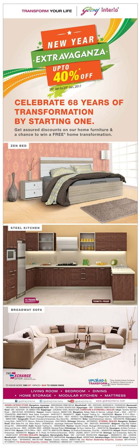 godrej interio home furniture new year offer bangalore