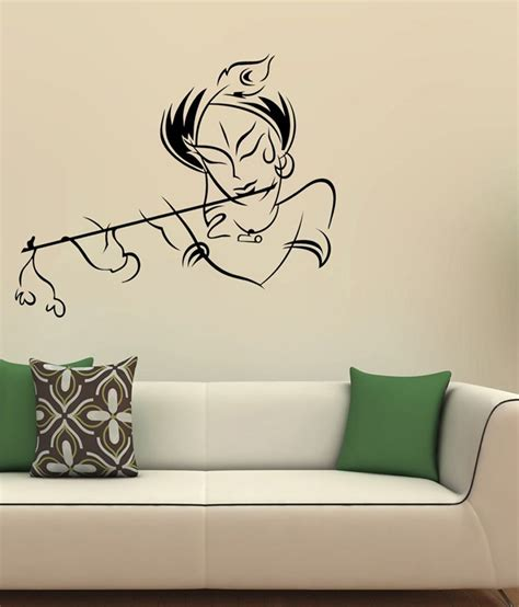 vinyl wall stickers wow interiors and decors krishna vinyl wall sticker buy