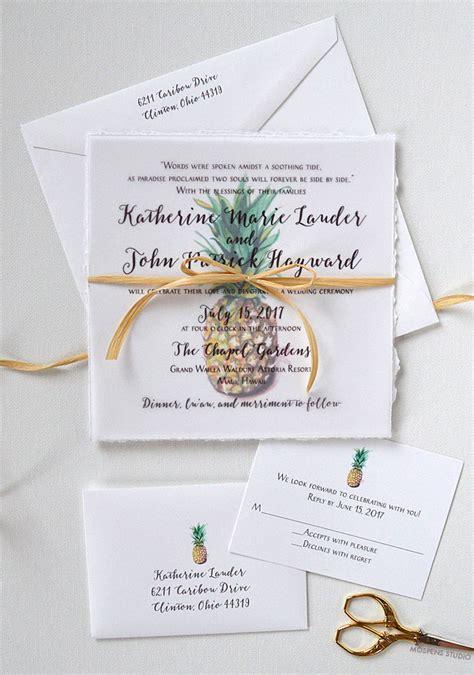 pineapple wedding invitations tropical pineapple wedding invitations custom wedding