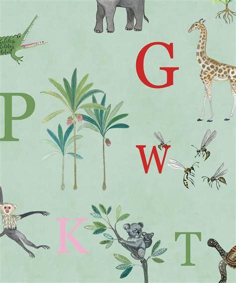noahs abc wallpaper  roll set alphabet wallpaper