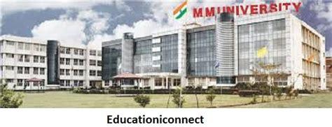 Wcu Mba Tuition by Maharishi Markandeshwar Fee Structure 2017