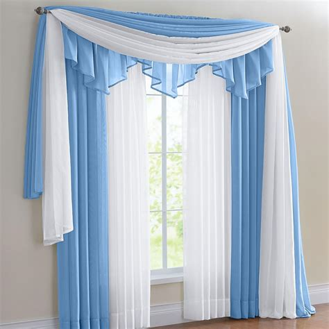 sheer curtain scarf ideas lisette sheer scarf valance window treatments design ideas