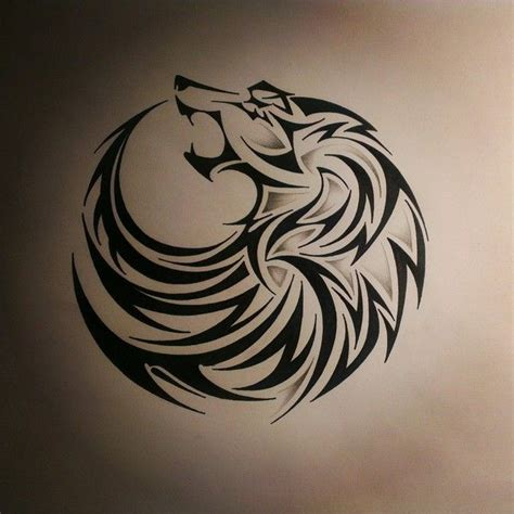 small tribal wolf tattoo 25 best ideas about tribal wolf tattoos on