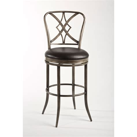 42 inch bar stools hillsdale furniture jacqueline rubbed pewter and black 42