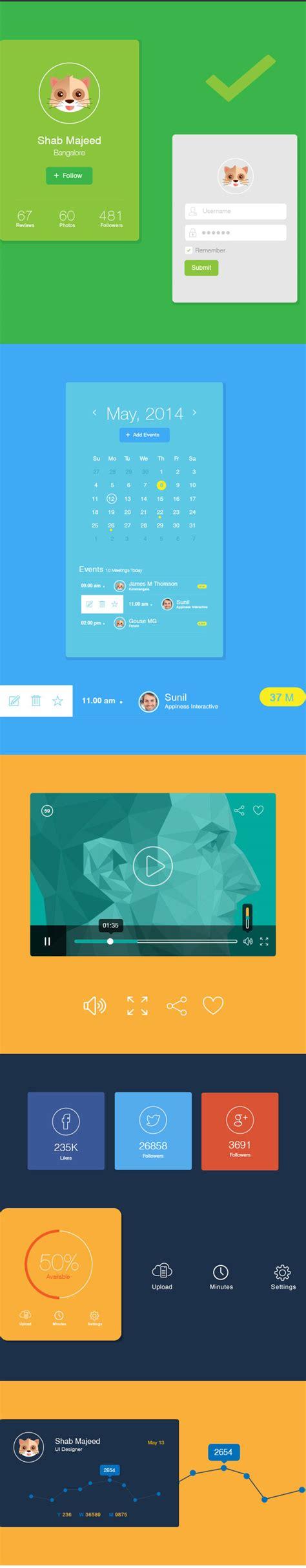 ui design elements vector flat ui design elements vector ai free download