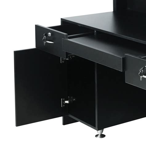 delamere salon reception desk matte black
