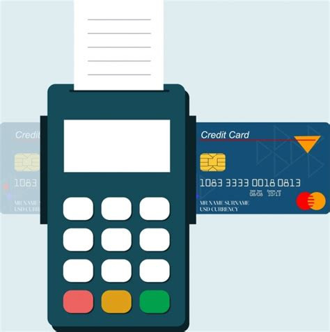 Credit Card Adobe Illustrator Template by Credit Card Promotion Banner Machine Icon Flat Design Free