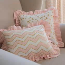 pale pink and gold chevron crib bedding carousel designs