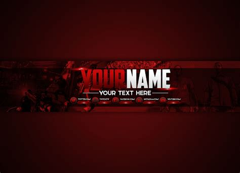 youtube channel art template 42 free psd ai vector