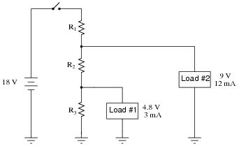 load resistor voltage divider note that the two 5 k