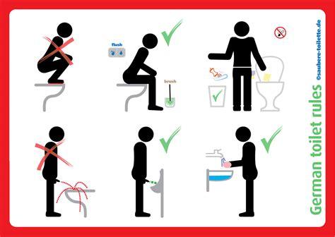 Bitte Keine Werbung Aufkleber Trafik by Infographic German Toilet Saubere Toilette