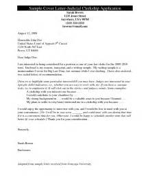 Cover Letter For Judicial Clerkship Sle Cover Letter Application Doc