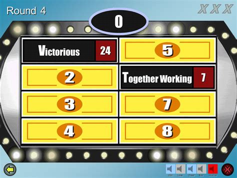 Family Fued Power Point Family Feud Customizable Powerpoint Template Youth