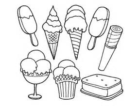 free coloring pages drawing ice cream