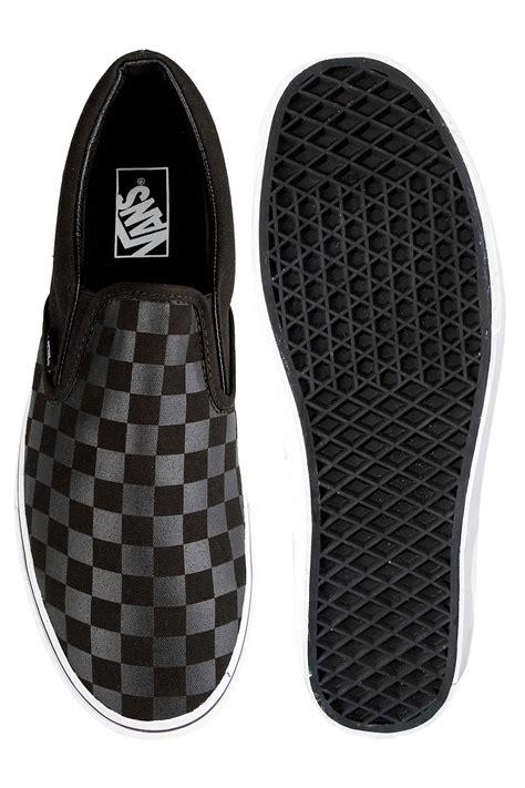 Vans Slip On Checkerboard Gum Limited Stock Premium vans classic slip on checkerboard shoe black black buy at skatedeluxe