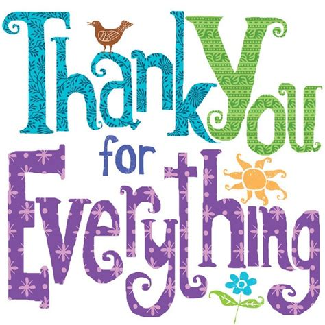 printable thank you for everything cards 22 best thanks images on pinterest thoughts