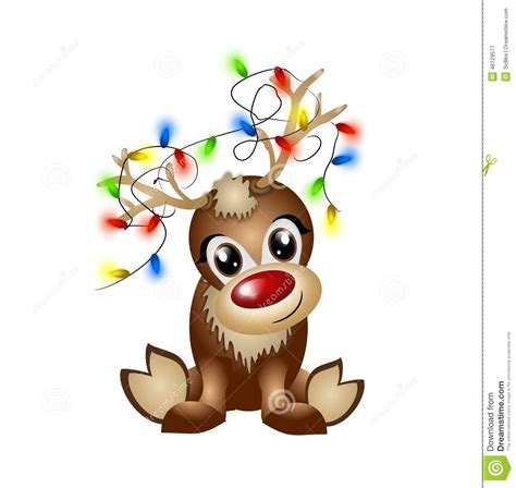 reindeer lights clipart clipartxtras