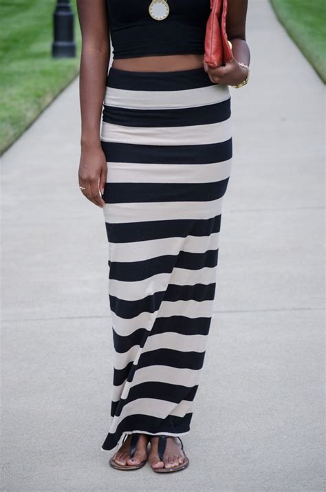 striped maxi skirt aliciatenise