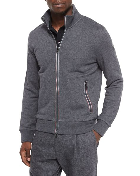 Jaket Jiper Black List Grey 1 moncler zip track jacket in gray for lyst