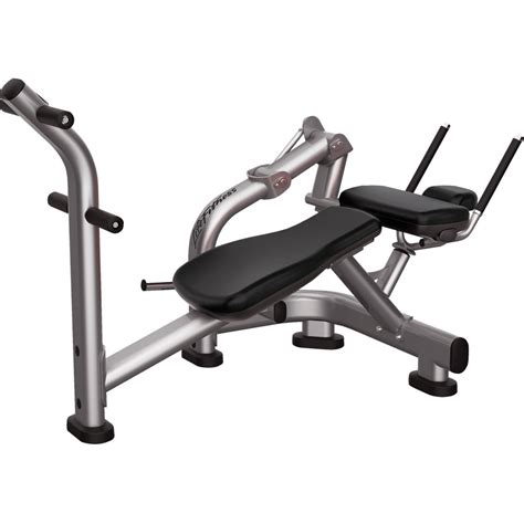 abdominal crunch bench ab bench and crunch machine signature series life fitness