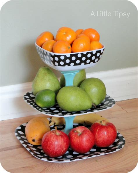etagere obst polka dot fruit stand a tipsy