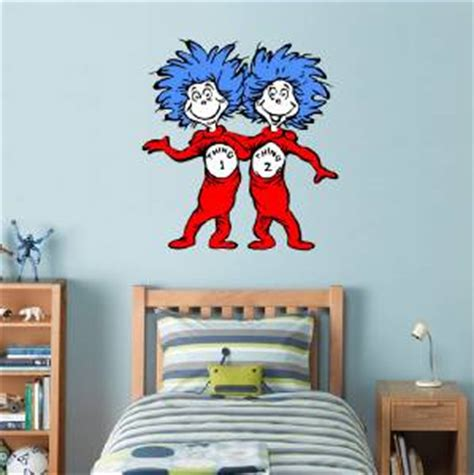 dr seuss home decor dr seuss thing 1 thing 2 decal removable wall sticker home decor cat ebay