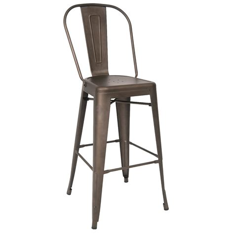 Bistro Style Bar Stools by Bistro Style Metal Bar Stool In Grey Finish