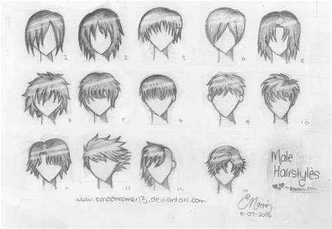 Anime Hairstyles For Guys by 14 Anime Hairstyles By Madlittlew0nderland On Deviantart