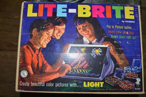 Original Light Bright by Vintage 1967 Lite Brite Advertising Home Decor
