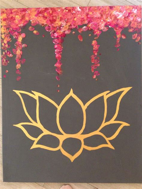 lotus flower painting designs 25 best ideas about lotus painting on black