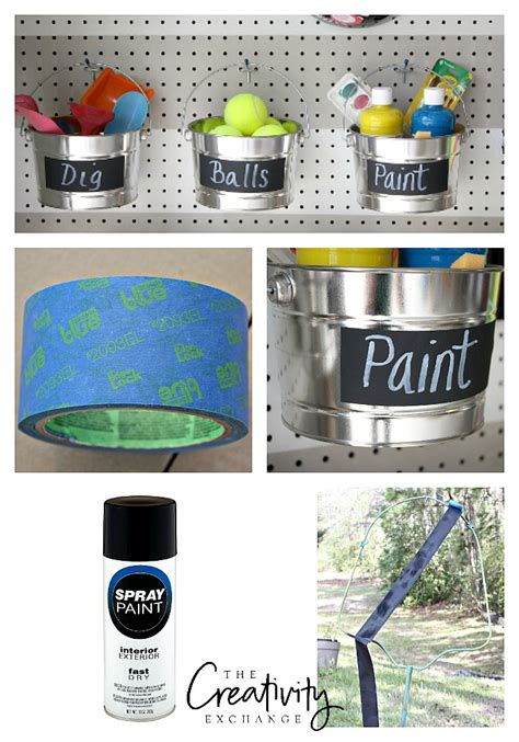 diy chalk paint in a sprayer diy garage pegboard storage for outdoor toys