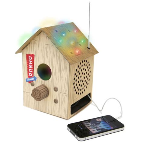 Multi Coloured Outdoor Lights - bird box radio and mp3 speaker iwoot