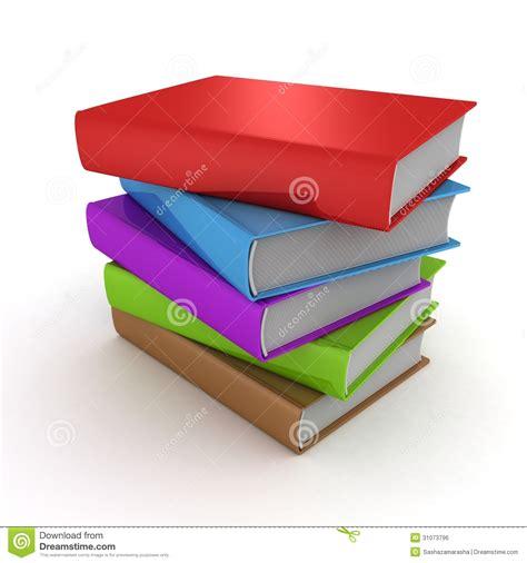 libro la torre y la apile la torre de libros coloridos en el fondo blanco stock de ilustraci 243 n imagen 31073796