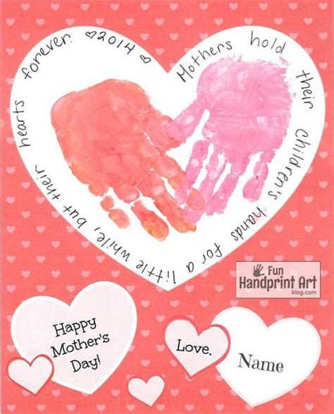 s day card arts and crafts template free printable s day handprint craft