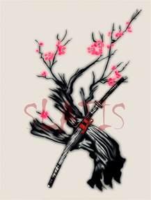 sakura and katana by slatis on deviantart